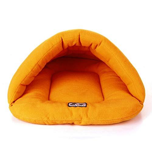 Krastal Dog Bed Cat Soft Fleece Warm Kennel Slipper Shape Small Animals Bed House Pet Mat Puppy Sleeping Bag ()
