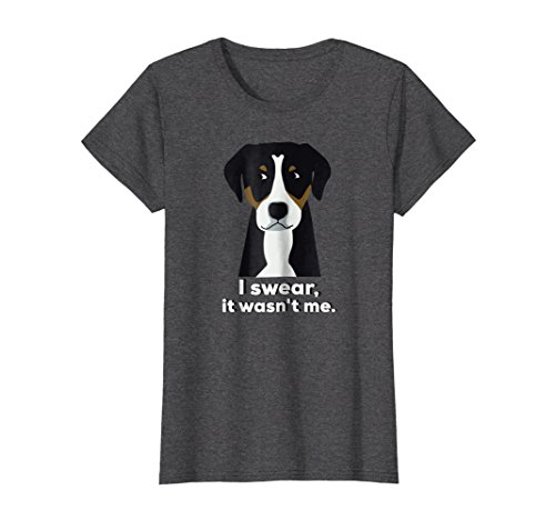 Womens Funny Greater Swiss Mountain Dog T-shirt Cute Mom Dog Medium Dark Heather