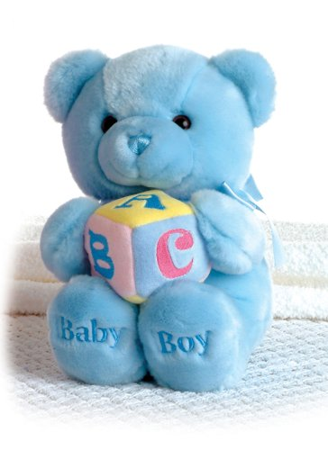 Aurora World Plush ABC Musical Comfy Baby Boy Bear 9