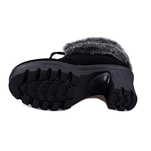 Corta Terciopelo Bazhahei Gastadas Nieve Zapatos By Zapatillas Botas Negro Para Mujer Invierno Gamuza Algodón 4 Flocada Cortas De Más La Señoras Las qwHfBFf4c