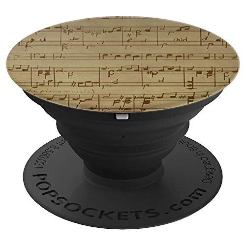 Sheet Music Hand Written Heirloom for Music Lovers - PopSockets Grip and Stand for Phones and ()