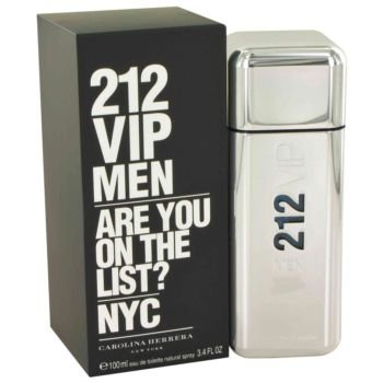 204d9fae7 Amazon.com : Carolina Herrera 212 Vip Eau De Toilette Spray for Men, 3.4  Ounce (Packaging may vary) : Beauty