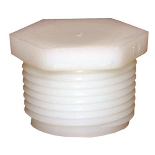 LASCO 19-9629 Hex Head Plug Barb Fitting with 3/4-Inch Male Pipe Thread, Nylon ()