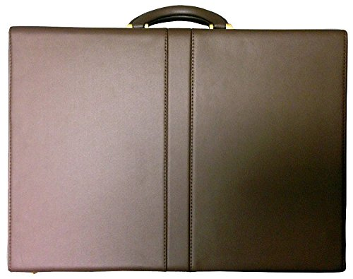 Top Grain Leather Attache Case (Top Grain Extended Edge Leather Attache Case Color: Brown)