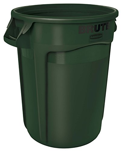 Rubbermaid Commercial BRUTE Vented Container, 32 Gallon - Green ()