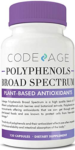 Polyphenols Supplement – 120 Count – Best Protective Polyphenol Nutrients to Defend Against Free-Radicals, Broad Spectrum Plant-Based Antioxidants with Natural Resveratrol Non-GMO