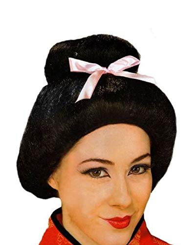 Deluxe Adult Black Chinese Geisha Samurai Costume -