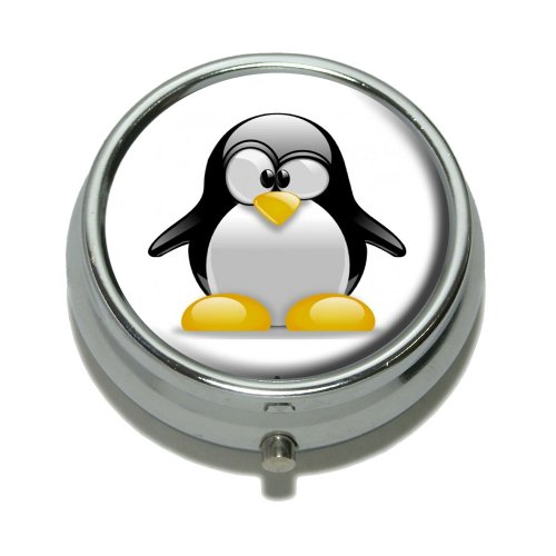 Penguin - Snow Bird Pill Case Trinket Gift Box by Graphics and More