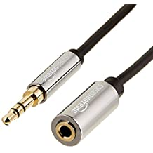 AmazonBasics 3.5mm Male to Female Stereo Audio Cable - 6 Feet (1.83 Meters)