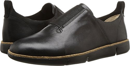 CLARKS Womens Tri Form Sneaker, Black Leather, Size 6