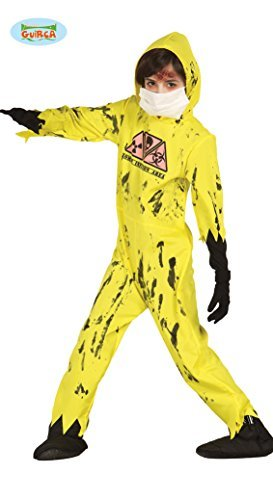 Nuclear Zombie Costume (Boys Zombie Nuclear Fancy Dress Costume, Large size by Guirca)