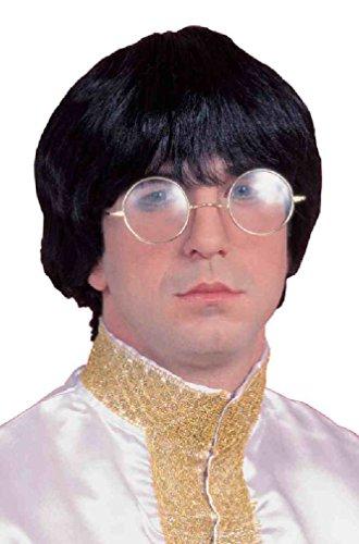 8eighteen Disco Groovy Guy Beatle Rock Star Costume Wig (Black) (Groovy Disco Guy Adult Costume)