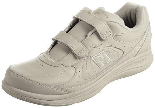 (New Balance Men's MW577 Hook and Loop Walking Shoe,  Bone, 10 XW US)