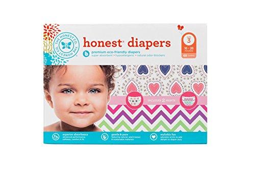 Honest Diaper Club Box - Confetti Hearts & Chevron - Size 3 - 68 ct by The Honest Company