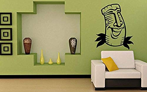 Room Design Pattern Tiki Bar Hawaii Symbol Island Statue Mask Wall Decals Decor Vinyl Sticker SK11339