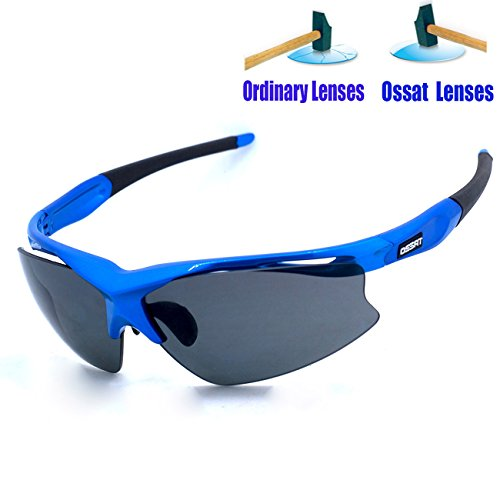 Ossat Pc Polarized Sports Sunglasses for Baseball Cycling Fishing Golf TR90 Superlight Frame - Sunglasses Mens Expensive Most