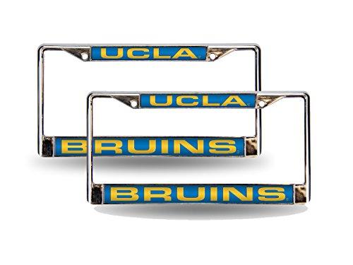 Rico UCLA Bruins Chrome Metal (2) Laser Cut License Plate Frame Set ()