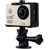 Excelvan SJ6000 WiFi Sports Action Camera Ultra HD 14MP 1080P Waterproof DV Camcorder 170°Degree 2.0 inch LCD Screen Anti-shake Motion Detection Function, Golden