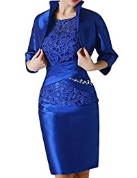 Gorgeous Bridal Short Sheath Mother of the Bride Cocktail Dresses with Jacket