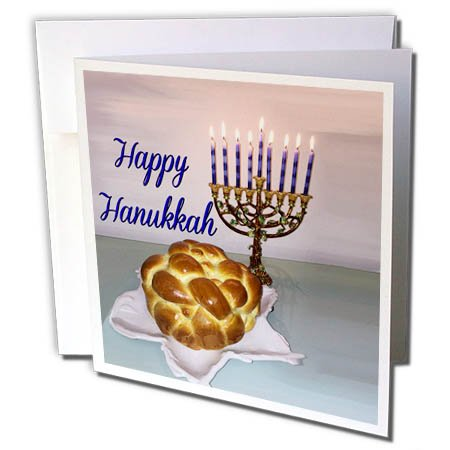 - 3dRose BrooklynMeme Hanukkah - Happy Hanukkah - 12 Greeting Cards with envelopes (gc_256644_2)