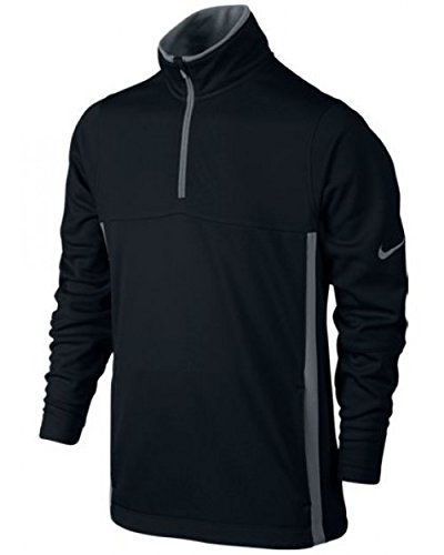 Half Zip Thermal (Nike Juniors Thermal Half Zip Top 2.0 - Medium - Black/Wolf Grey)
