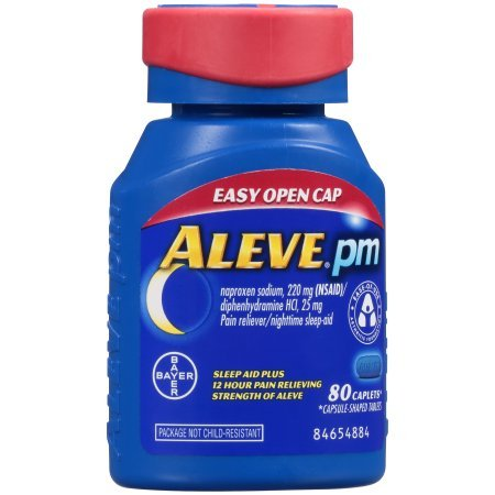 Aleve PM with Easy Open Arthritis Cap, Caplets with Naproxen Sodium, 220mg (NSAID) Pain Reliever/Fever Reducer/Sleep Aid, 80 Count - 3 Packs