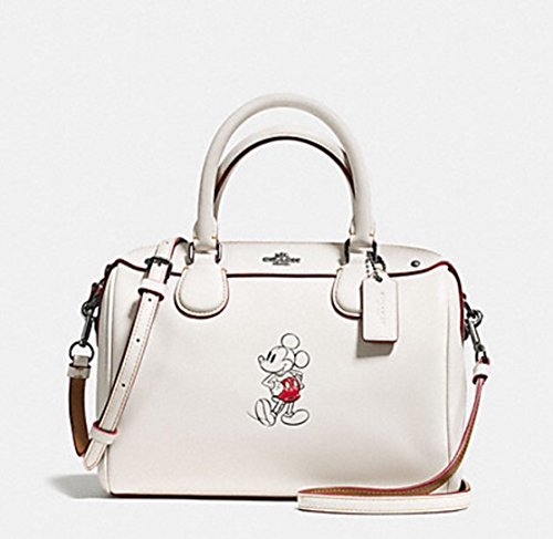 Coach Mickey Mouse Leather Mini Bennett Cross Body Purse - #F59371 by Coach