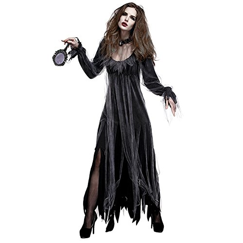 ELEC TECH Halloween Dress Women's Deluxe Cemetery Bride Ghost Bride Zombie -
