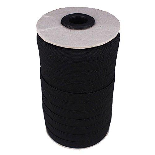 20yard Black Elastic Stretch Ribbon Band 6mm 7mm 8mm 9mm ...