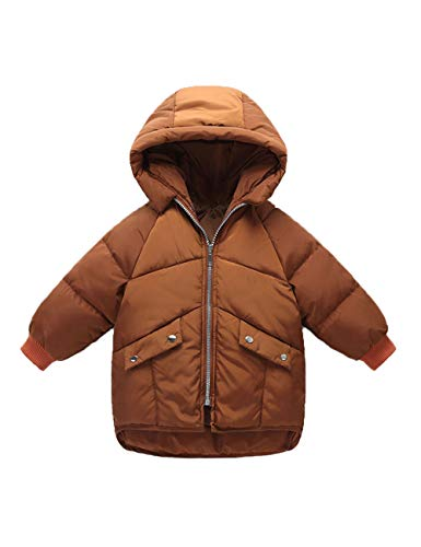 Outerwear Cotton Clothes Brown Children Zipper Winter Unisex Outdoor Children Coat Jacket BESBOMIG Fashion Hooded a4qRWwwC