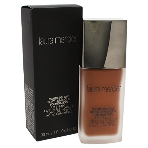 Chocolate Foundation - Laura Mercier Candleglow Soft Luminous Foundation for Women, Chestnut, 1 Ounce
