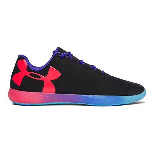 Under Armour Kids Girl's UA Street Precision Low Om (Big Kid) Black/Purple Chic/Sirens Coral Athletic Shoe by Under Armour
