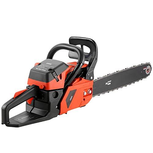 Binxin 20″ 58CC Gas Powered Chainsaw 2 Stroke Petrol Chainsaw Cutting Wood (58CC)