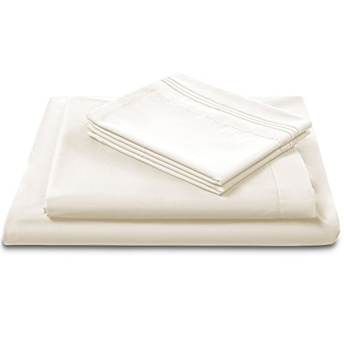 Luxomere ULTRA SOFT Brushed Microfiber Bed Sheet Set – Luxury Hotel Collection Bedding with Deep Pockets, Fade Wrinkle & Stain Resistant 4-Piece (SLEEP IN STYLE) Fitted Bed Sheets (Full, - In Outlet Orlando Store