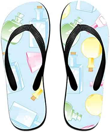 7784c640be6f OHFSCTN Coloranimal Sweet Candy Printed Flip Flops for Men Soft Home House  Slippers Big Size