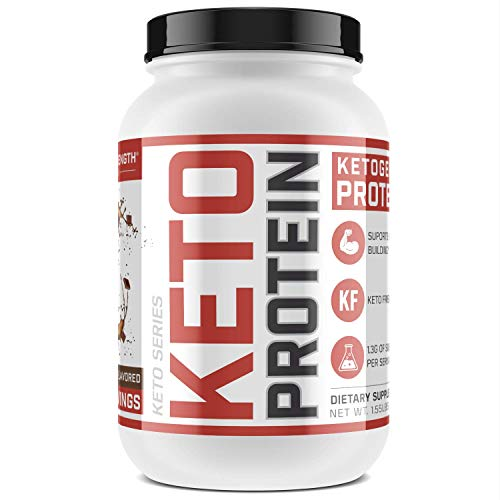 Low-Carb Ketogenic Protein Powder - 11.6g Muscle-Building Keto Protein in Every Scoop | Chocolate Flavored, 1.55 lbs, New from Sheer Strength Labs