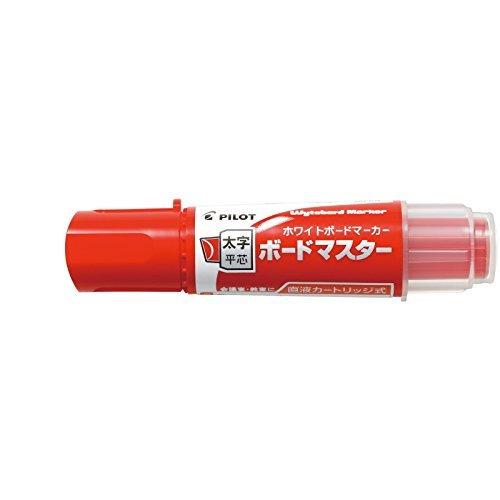 Pilot Whiteboard Marker Bord Marker - Flat Large - Red (Pentel Whiteboard)