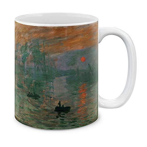MUGBREW Classic Art Claude Monet Impression Sunrise Ceramic Coffee Gift Mug Tea Cup, 11 OZ ()