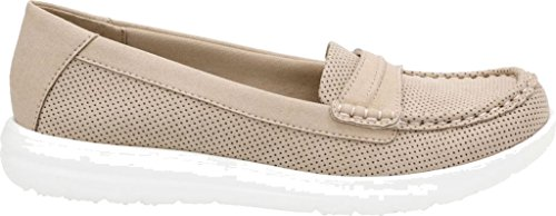 Clarks Womens Jocolin Maye Penny Loafer,Sand Perforated Textile,US 8 W