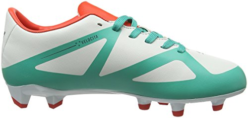 Umbro Velocita III Club Hg-Jnr, Botas de Fútbol Niños Multicolor (Dawn Blue/Carbon/Fiery Red/Spectra Green Epe)