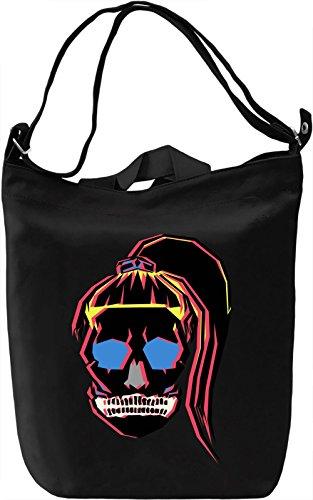 Sugar Skull Girl Borsa Giornaliera Canvas Canvas Day Bag| 100% Premium Cotton Canvas| DTG Printing|