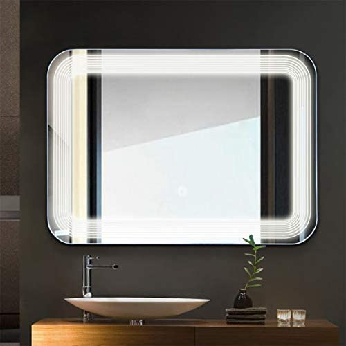 home, kitchen, home décor, mirrors,  wall-mounted mirrors 1 discount Tangkula LED Lighted Bathroom Mirror, Wall Mounted Rectangle promotion