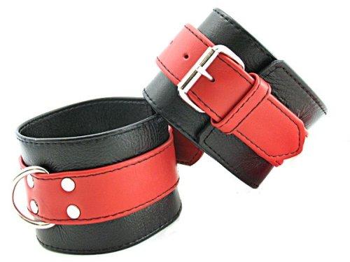 Heart-2-Heart-Soft-Leather-Ankle-Restraints-RedBlack