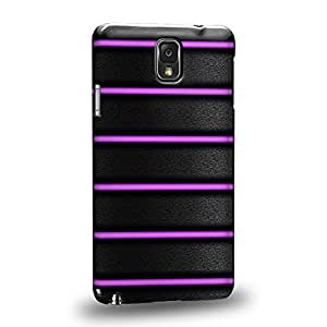Case88 Premium Designs Art Bicycle Purple Grip Protective Snap-on Hard Back Case Cover for Samsung Galaxy Note 3