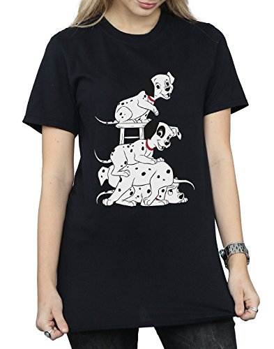 Cult T Dalmatians fit Woman nera 101 Absolute Disney Chair shirt boyfriend ZSdBnnTxq