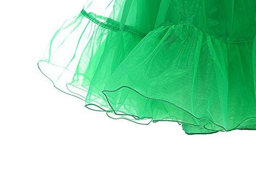 Dresstells Verde Sottogonna Gonne 50s Vintage Petticoat Puffy Retro Mini Rockabilly Organza WeDIE29HY