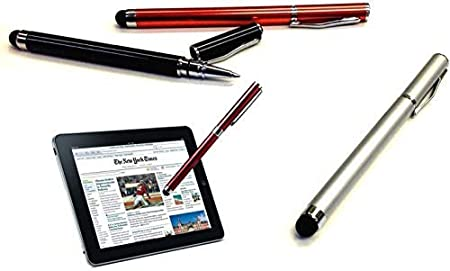 3 Pack-Silver Pen Works for DragonTouch K10 with Custom High Sensitivity Touch and Black Ink! Tek Styz PRO Stylus