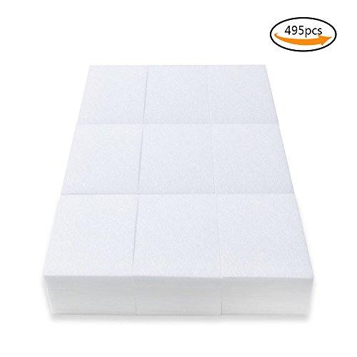 Teenitor Nail Wipe, 495 Lint Free Nail Art Gel Polish Remover Cotton Pad