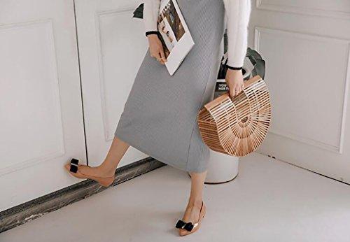 FAFZ Scarpe e con da Antiscivolo Donna da con Fondo A Morbido Scarpe Donna da congelamento Scarpe Pioggia Piatto Scarpe Fiocco Anti Stivali Fondo rrAwpq