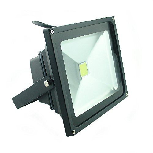 - QUANS 30W Watt Cool White 12V 24V AC DC Ultra Bright LED Security Wash Flood Light Floodlight Lamp High Power Black Case Waterproof IP65 Work in The Rain Superbright 6000K, 12-24V Input Low Voltage